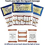 Egglo Scripture Scrolls (36 - 3 PACK) - Fun Religious/ Christian Kid's Toys for Sunday School Prizes