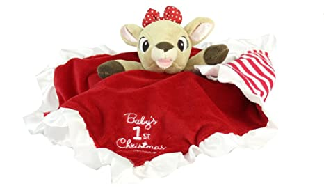 premium selection 6b26b acda2 babys first christmas blanky clarice the reindeer
