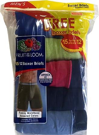 """Fruit of the Loom Men's """"15-pack"""" (12+3 FREE) Classics Boxer Brief- Medium"""