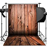 econious Wooden Backdrop, 5x7 ft Antique Wooden Floor Backdrop for Studio Props Photo Backdrop