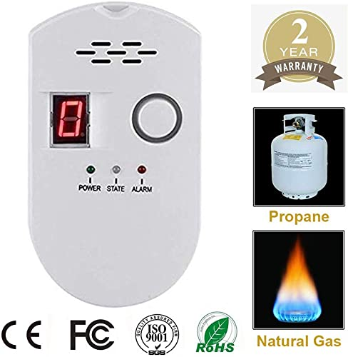Natural Digital Gas Detector, Home Gas Alarm, Gas Leak Detector,High Sensitivity LPG LNG Coal Natural Gas Leak Detection, Alarm Monitor Sensor Home Kitchen