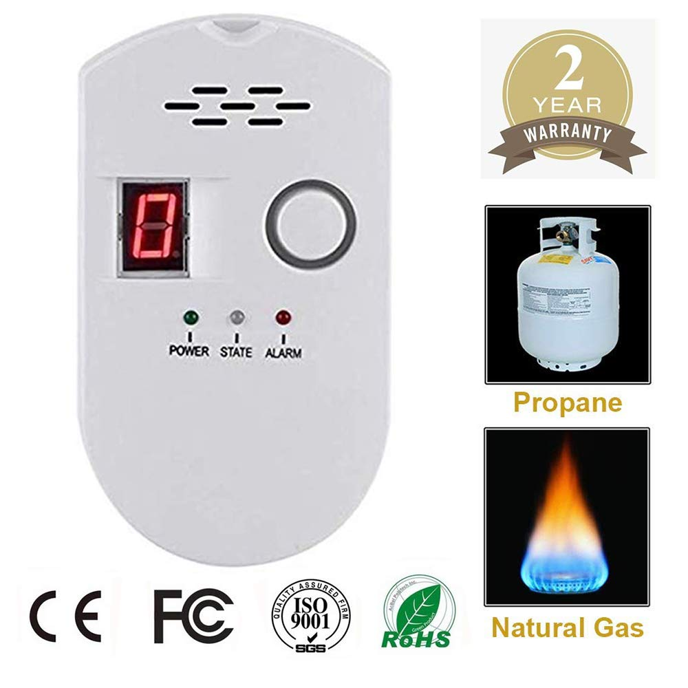 Propane/Natural Digital Gas Detector, Home Gas Alarm, Gas Leak Detector,High Sensitivity LPG LNG Coal Natural Gas Leak Detection, Alarm Monitor Sensor Home/Kitchen (Style-2)