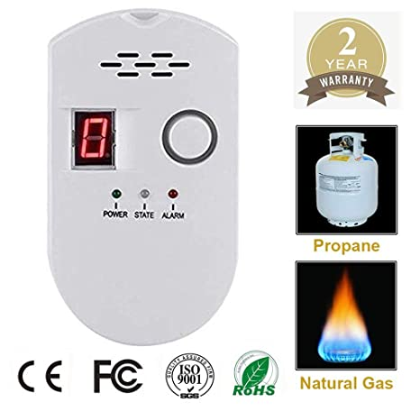 Propane/Natural Digital Gas Detector, Home Gas Alarm, Gas Leak Detector,High Sensitivity LPG LNG Coal Natural Gas Leak Detection, Alarm Monitor Sensor ...