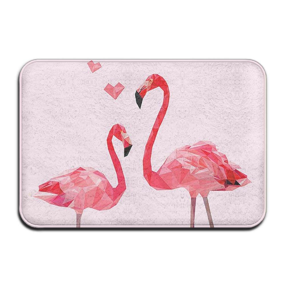 BINGO BAG Flamingo Party Love Indoor Outdoor Entrance Printed Rug Floor Mats Shoe Scraper Doormat For Bathroom, Kitchen, Balcony, Etc 16 X 24 Inch