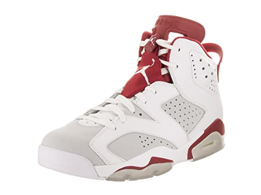 Nike Jordan Men's Air Jordan 6 Retro White/Gym Red/Pure Platinum Basketball  Shoe