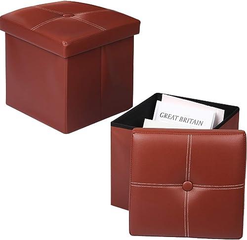 Lafulling 2 Pack Storage Ottoman Cube