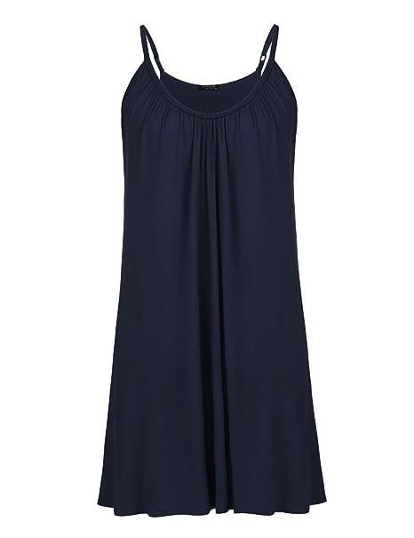 Womens Plus Size Nightgown Sleeveless Sleepwear Modal Cotton Sleepshirts  Slip Night Dress(12W-28W