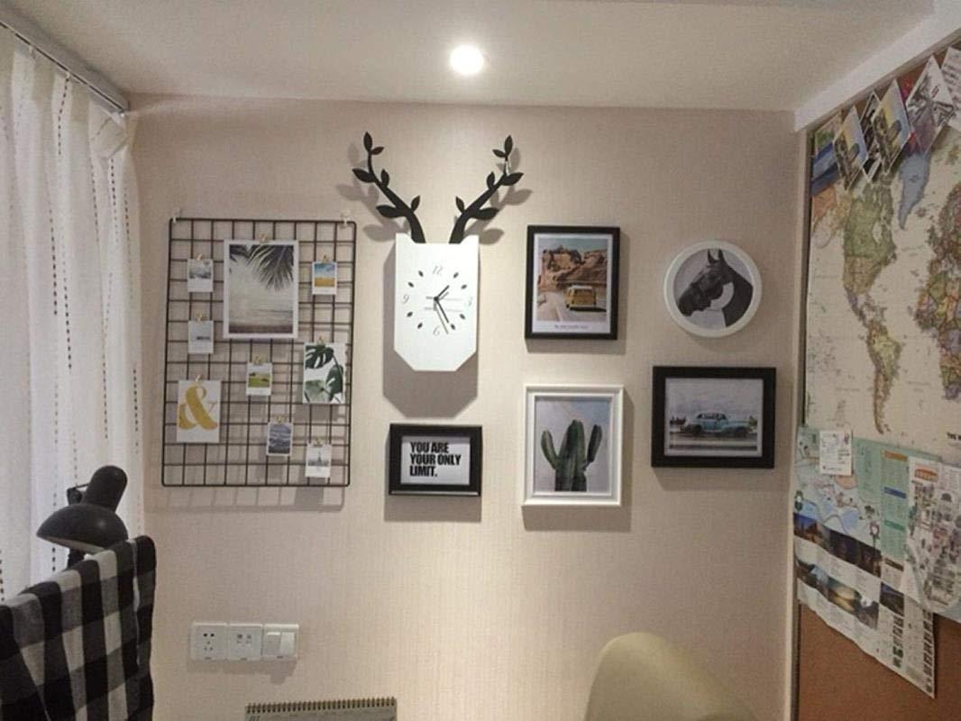 Jjek K Photo Frame Photo Wall Photo Wall Collage Ins Grid Photo Wall Set Living Room Photo Frame Personalized Wall Clock Creative Photo Frame Combination by Jjek (Image #7)