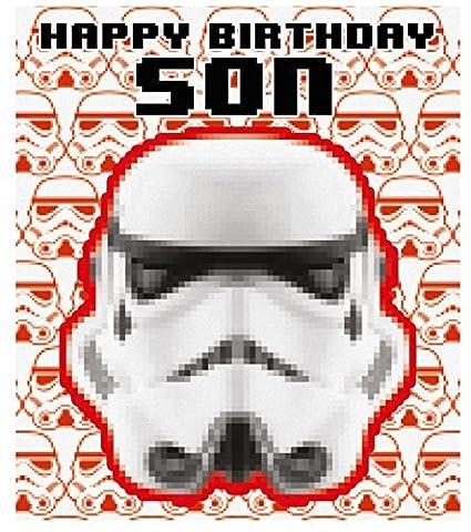 Star Wars Son Storm Trooper Tarjeta de Cumpleaños: Amazon.es ...