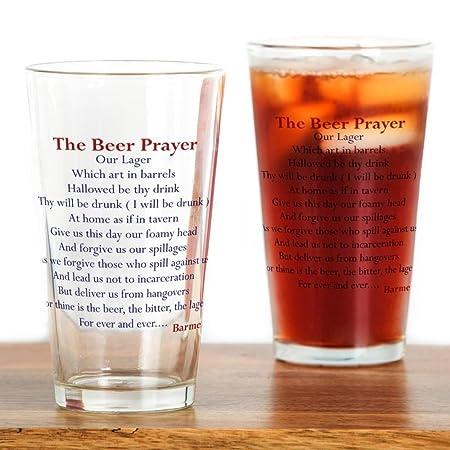 Amazoncom Cafepress Beer Prayer Beer Humor Pint Glass 16 Oz
