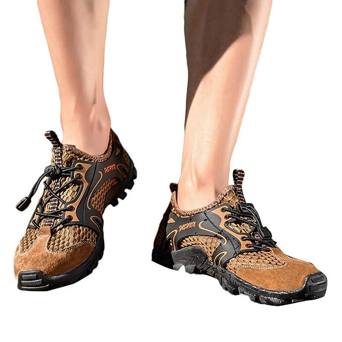 Zapatos de hombre JiaMeng Hombres Zapatillas Moda para Caminatas al Aire Libre Calzado Deportivo Zapatos Antideslizantes