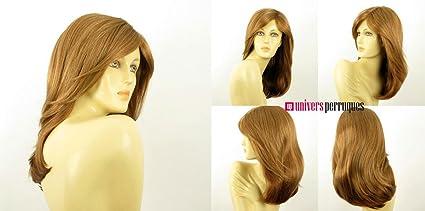 Peluca para mujer, largo, liso, color rubio oscuro cobre ref.: zelinda