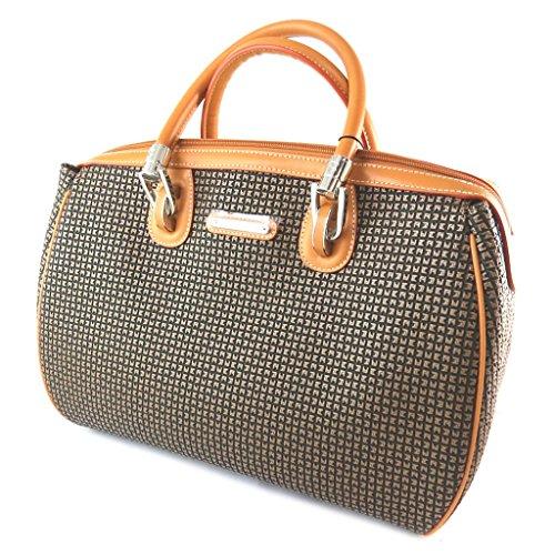 La bolsa 'Ted Lapidus'marrón miel.