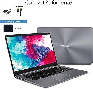 "ASUS VivoBook 15.6"" FHD IPS LED Flagship WideView Laptop w/ Accessories | AMD Quad Core A12-9720P | 16GB RAM | 512GB SSD | Fingerprint Reader | USB-C | 802.11ac | Windows 10"