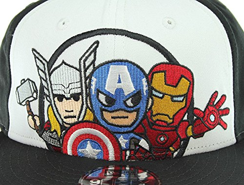 wholesale dealer 8d533 0ebb8 Tokidoki Marvel Trio New Era 9Fifty Men s Black Snapback Hat