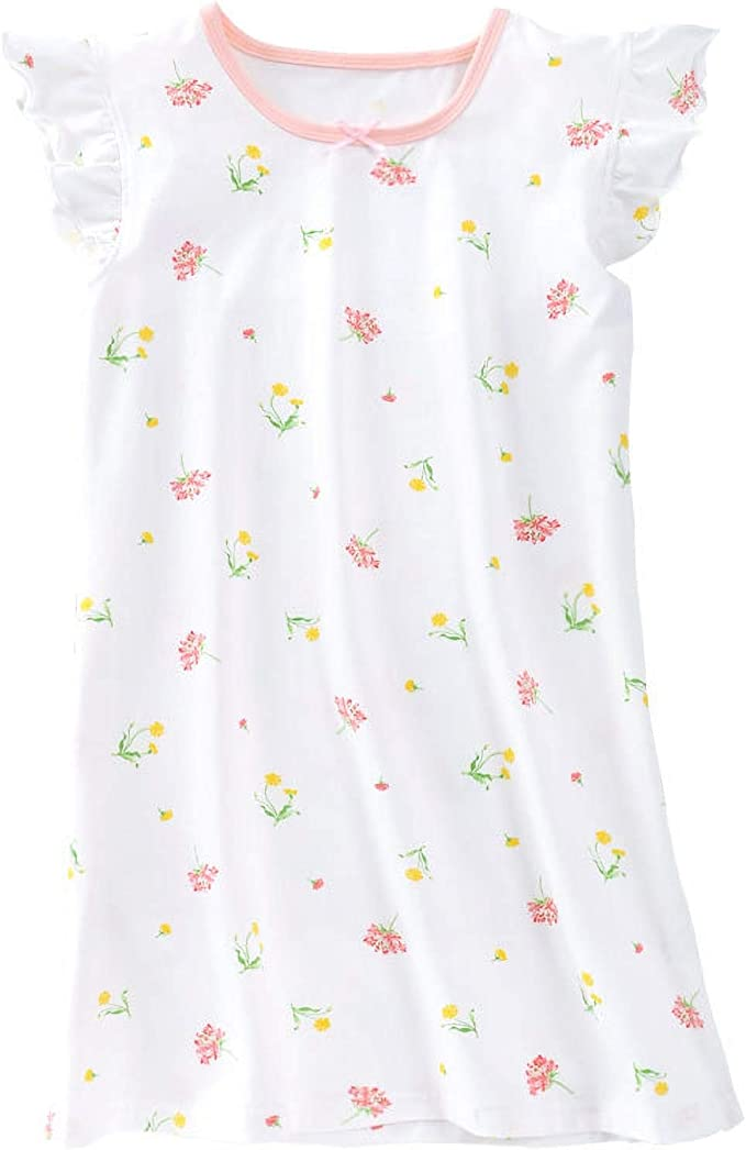 Flor de niñas Camisones de algodón Ropa de Dormir Blanco 9-10 años: Amazon.es: Ropa y accesorios