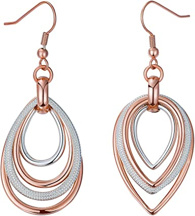 2020 New Lady 18K GP Silver /& Gold Plated Crystal Earrings Ear Hook Gift Charm