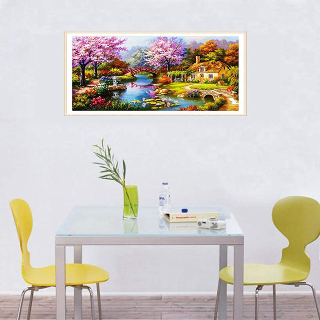 94/x 45/cm ricamo punto croce artigianato arti decorazione da parete misha 5d Diamond vernice di diamanti completo paesaggio di xiaoqiao