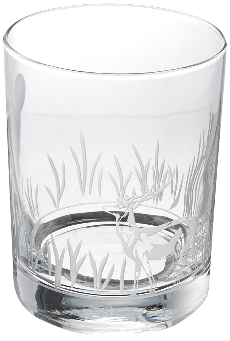 Rolf Glass 218007S/4 Deer Double Old Fashioned Glass, 14 oz, Clear