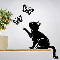 Pegatina de pared con diseño de mariposas, diseño de mariposas, vinilo para decoración del hogar, traslados de vida de…