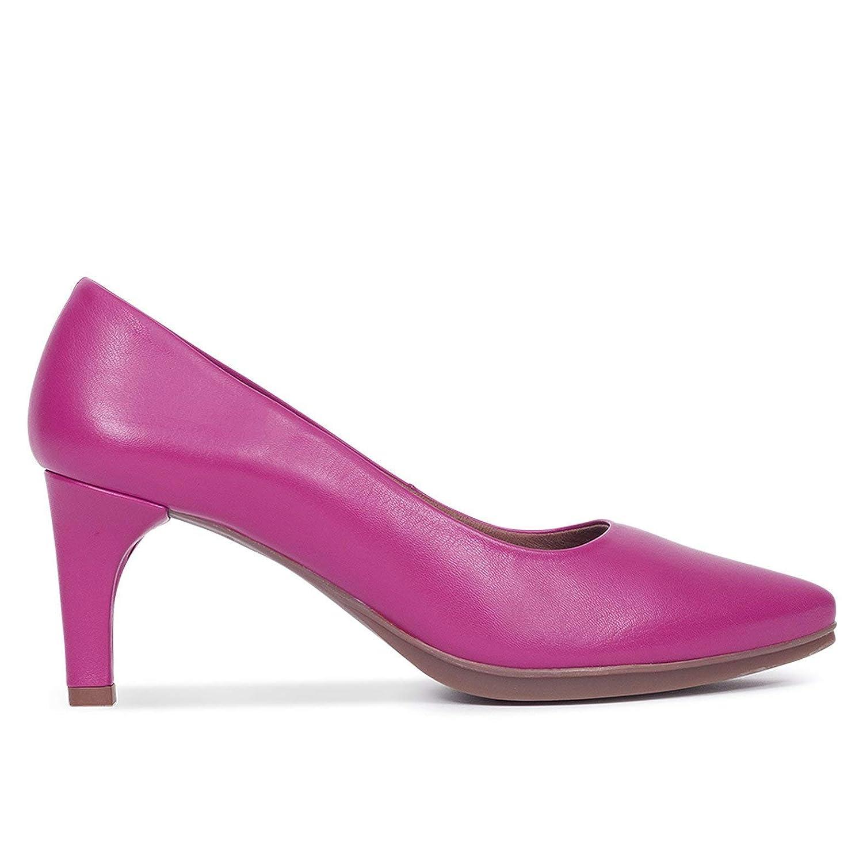 Zapatos Salón. Zapatos Piel Mujer Hechos EN ESPAÑA. Zapatos Tacón Fucsia. Zapato Mimao. Zapatos Mujer Tacón. Zapatos Mujer Fiesta y Baile Latino. Zapato Cómodo Mujer con Plantilla Confort Gel