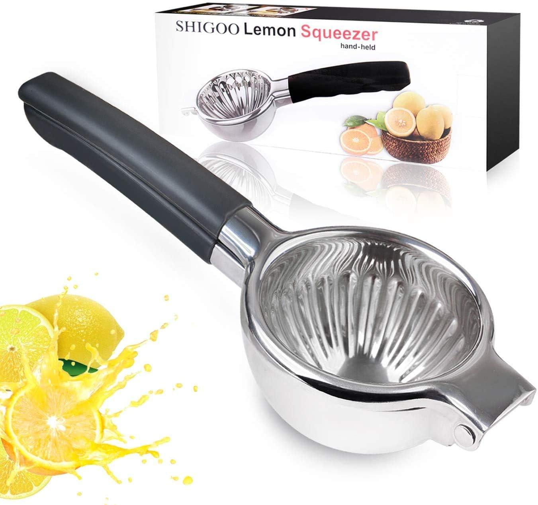 Super Large Lemon Squeezer,3.54 Inches Lemon Press Heavy Duty Manual Citrus Juicer, Solid #304 Stainless Steel Fruit juicer,Lime Hand Press, Bowl Perfect for Juicing Oranges Big Lemons
