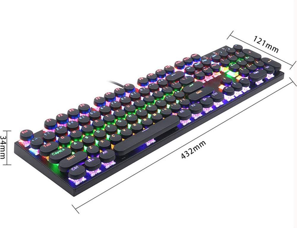 SONADY 7-Color Backlit Wired Gaming Keyboard,Waterproof Keyboard 104 Keys USB Ergonomic Wrist Rest Keyboard for Windows PC Gamer Desktop//Computer