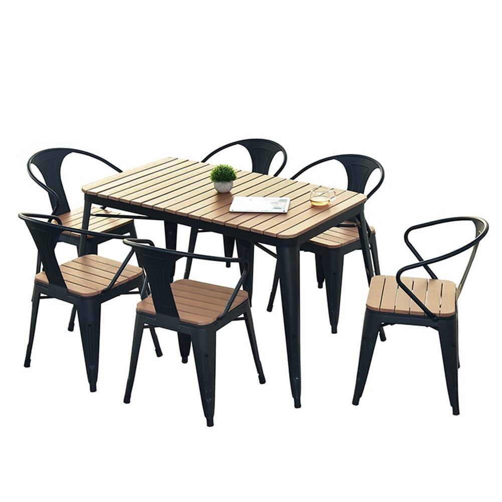 ガーデンテーブル チェア (KS002) (3点セット(70*70*75CM)) B07DJ7JNH8   3点セット(70*70*75CM)
