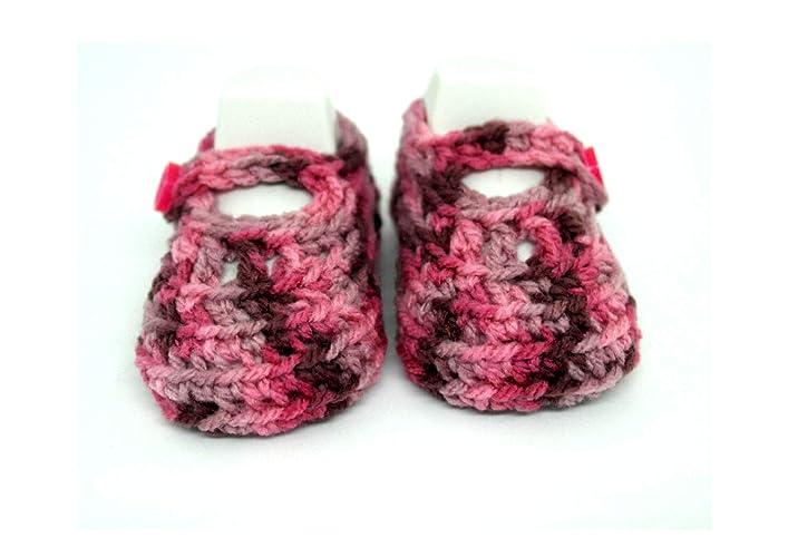 Zapatos de bebé hechos a mano, Botines de bebé de ganchillo, Botines de niña, Zapatos de bebé recién nacidos, Zapatos de Mary Jane, Zapatillas de bebé de ...