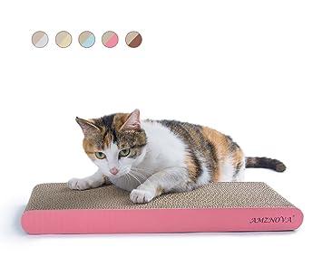 AMZNOVA rascador de Gato para cama y sofá almohadillas rascadores para gatos de carton reciclado corrugado