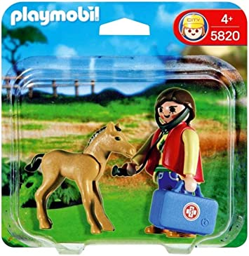 PLAYMOBIL Duo Pack Veterinaria + Potro: Amazon.es: Juguetes y juegos