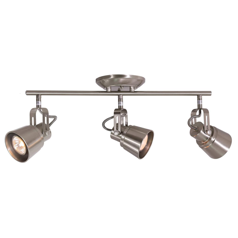 3 Lights Kitchen Ceiling Spotlight Brushed Nickel