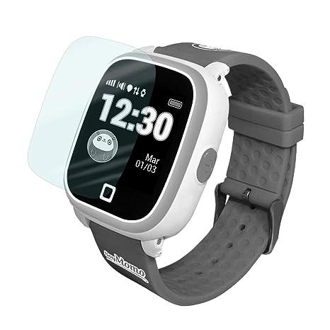 SoyMomo Protector de Pantalla para Reloj H2O, Cristal Vidrio Templado Compatible con smartwatch H2O