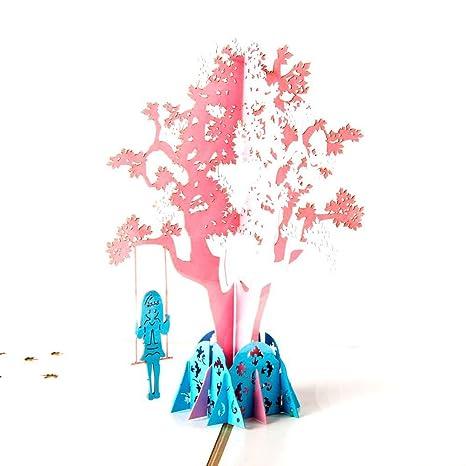 Carte Anniversaire Papier.Carte Anniversaire 3d Papier Spiritz Carte Invitation Anniversaire Carte D Anniversaire Cartes De Pop Up Carte Anniversaire Enfant Femme Fleur Pop Up