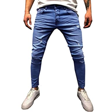 Amazon.com: Mens Stretch Slim Fit Jeans - Mens Super Comfy ...