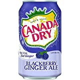 Canada Dry Ginger Ale Blackberry Soda, 12 Ounce (24 Cans)