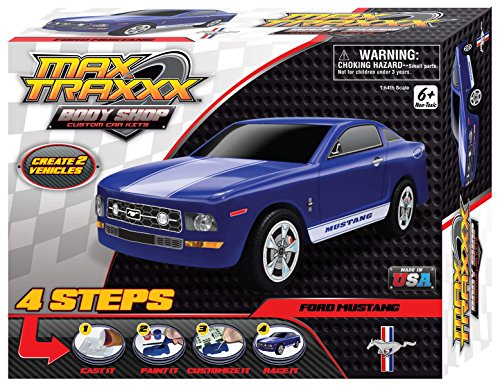 Max Traxxx Award Winning Body Shop PerfectCast Ford Mustang Car Cast, Paint and Play Craft Kit (Ford Mustang Scalextric)