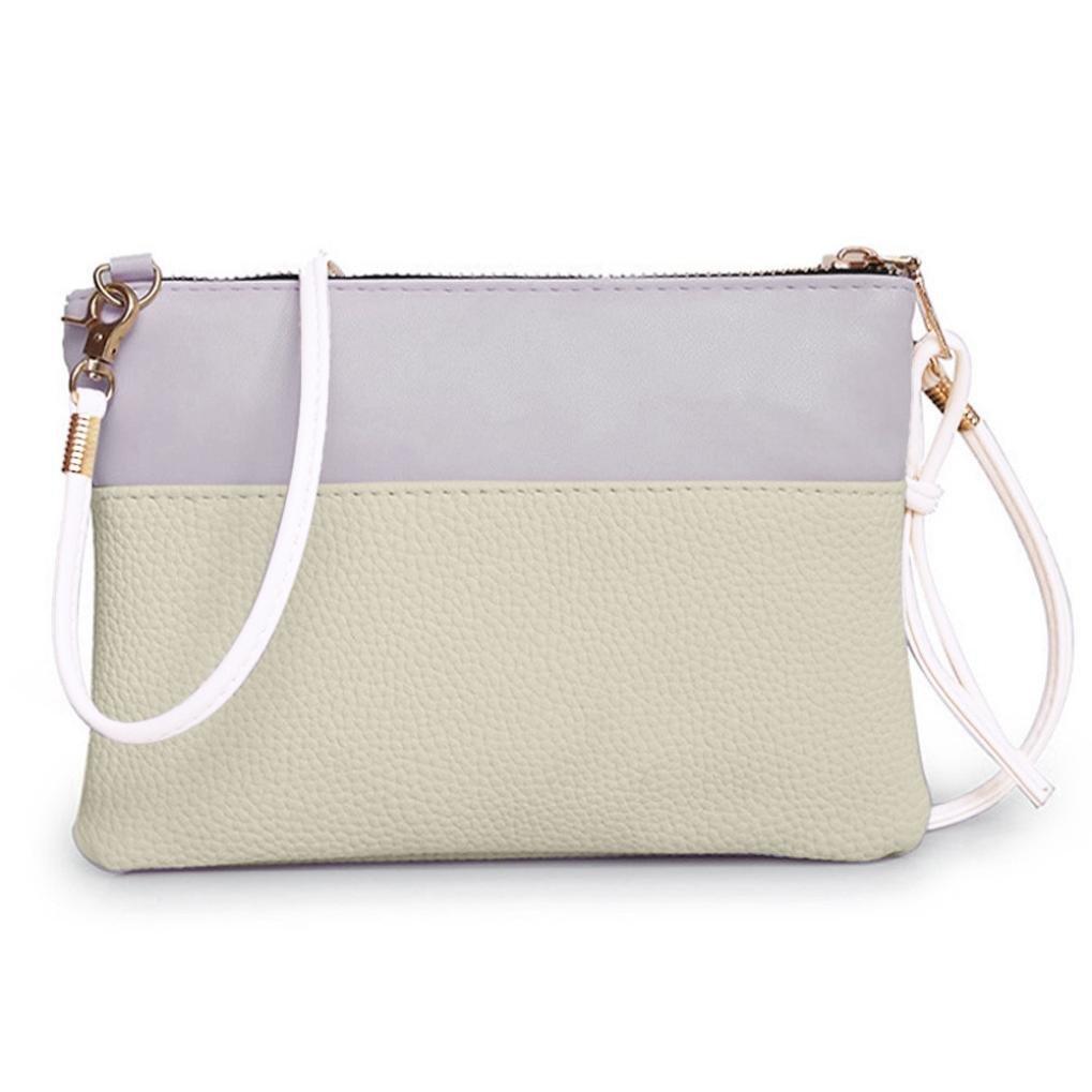 Shoulder Bag Women Handbag Large Tote Ladies Purse Coin Purse Zipper Bag Messenger Bags Faionny (A, Beige)