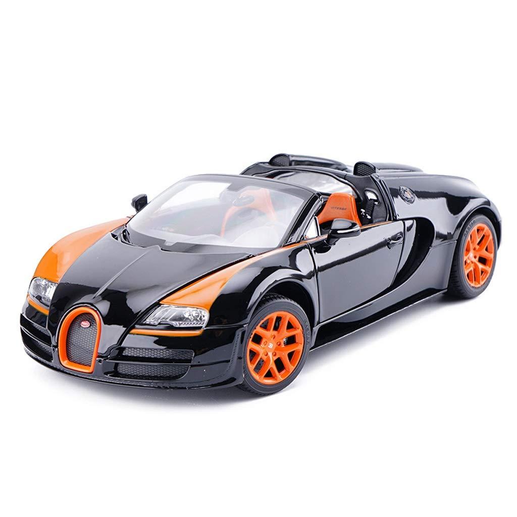 oferta especial negro IVNGRI-Modelo de Auto Auto Auto Bugatti Sports Coche Alloy Coche Model Ornaments Die-Casting Modelo Original Coche Collectio, Diseño de simulación 1 18 (Color   negro)  de moda