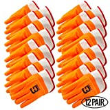 Better Grip BG105ORG Heavy Duty Premium Sandy finished PVC Coated-Supported Glove with Safety Cuff, Chemical Resistant, Large, Fluorescent Orange, Sanitation Gloves (12 Pair)