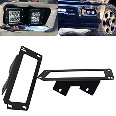Upgrade Hidden Bumper Dually Fog Light Location Mounting Brackets for 2010-2020 Dodge Ram 2500 3500 and 2009-2012 Ram 1500: Automotive