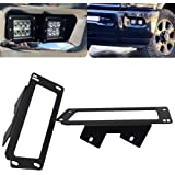 Upgrade Hidden Bumper Dually Fog Light Location Mounting Brackets Compatible with 2010-2019 Dodge Ram 2500 3500 and 2009-2012