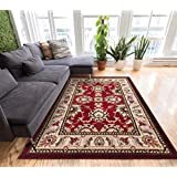 Herati Floral Red Traditional Oriental Sarouk Medallion Modern Floral 8x10 (7 10  x 9 10 ) Mansion Room Area Rug...