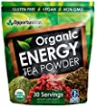 Organic Energy Tea Powder - Healthy Caffeine Superfood Drink Mix with Matcha Green Tea, Yerba Mate, & Goji Berry - Vegan & Non GMO Supplement for Tea, Smoothie, or Shake - 30 Servings