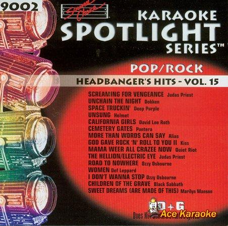Sound Choice Spotlight CDG SCG9002 - Headbanger's Hits Vol. ()