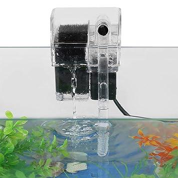 SOULONG Externo Tipo Colgante Oxígeno Bomba Filtro de Agua para Acuario Pecera Jardín Estanque Fuente Tanque