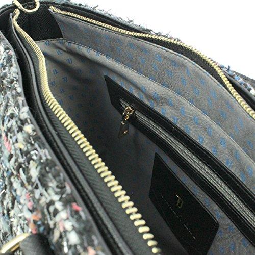Trussardi Jeans Donna Borse a mano 75B00179-1Y000034 P1 ISCHIA STUOIA TOTE BAG P100 Nero Multicolor