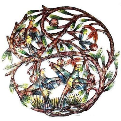 Rustic Hand Crafted Metal Garden Flower Ornament sculpture ART Standbeelden en decoratie Tuindecoratie
