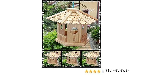 Casa de pájaros pájaro Casas (V76) de pajarera Comedero de madera ...