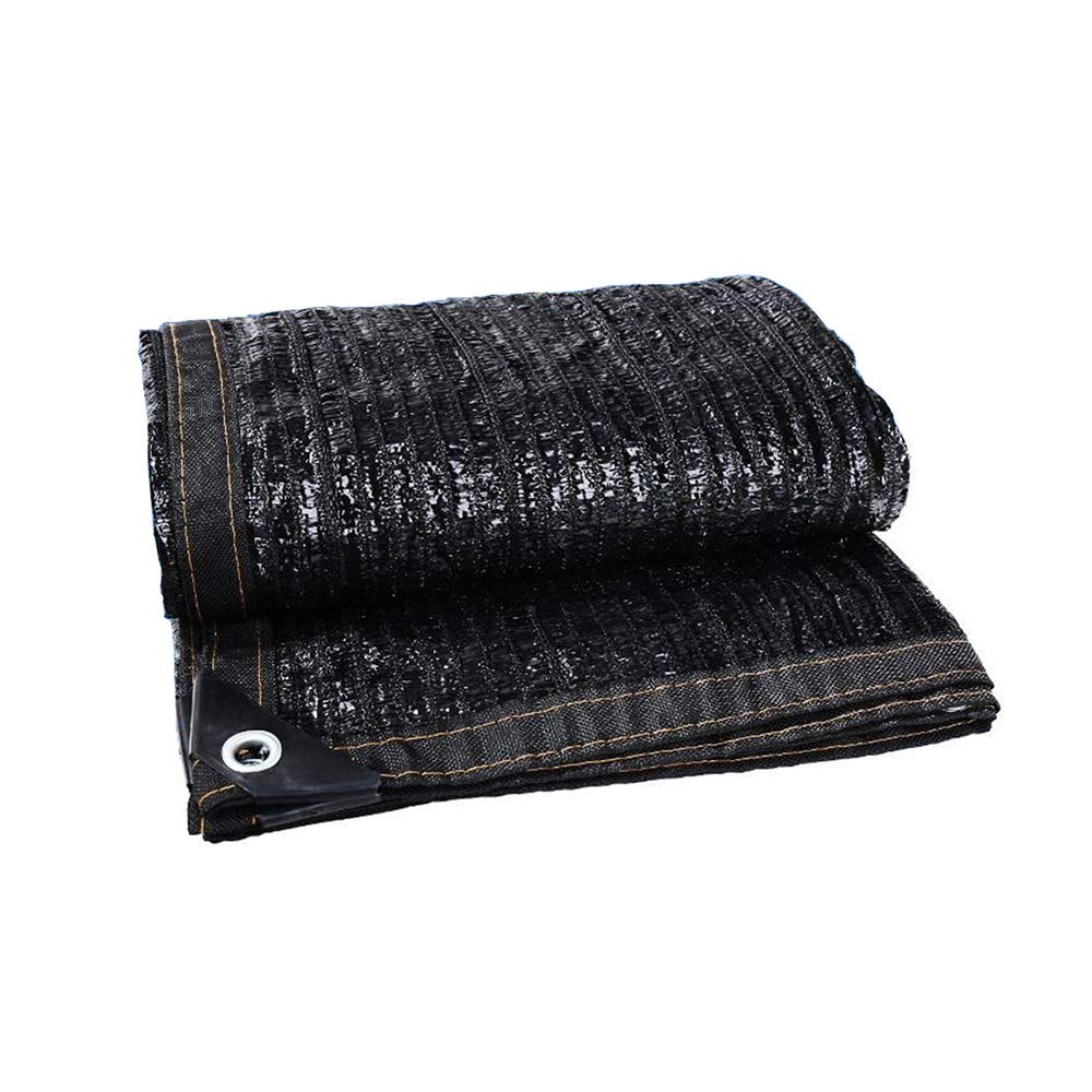 XIAOLIN 日よけ布70%日除け - 温室のための黒い紫外線抵抗力がある生地の網は布にテープを貼った (サイズ さいず : 6x8m) 6x8m  B07P3M2M4P